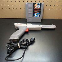 Nintendo NES-005 Gray OEM LIGHT GUN! ZAPPER! Mario/Duck Hunt TESTED!