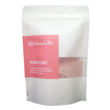 Poudre d'argile rose de kaolin rose organique pure naturelle pour tous les...