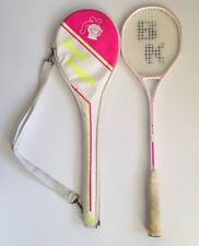 Vintage Black Knight Squash Racket Model Bk 7087 Neon Woman's Pink With Case