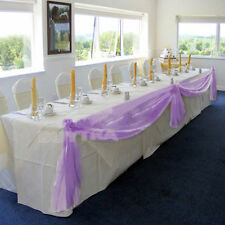 LILAC Elegant Wedding Table Valance Chair Decor Sheer Swags Fabric Any Party