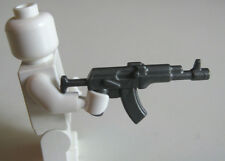 Lego Custom AK-47 ASSAULT RIFLE Minifigure Military Army Special Forces -Steel-