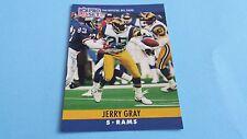 1990 PRO SET FOOTBALL JERRY GRAY CARD #166***LOS ANGELES RAMS***