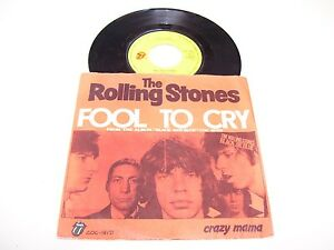 """Rolling Stones - Fool To Cry / Crazy Mama * RARE 7"""" 45 RPM VINYL HOLLAND 1976 *"""