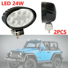 2PCS LED Oval 24W Off Road Spot Beam Work Driving Fog Light SUV Truck Waterproof