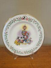 Lenox Disney Christmas Collectible Holiday Plate A Carolin' We Go Mickey