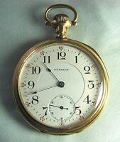 WALTHAM 1906 Pocket Watch 19 Jewels # 15105614  It Runs