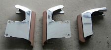 1976 - 1979 Cadillac Seville Bumper Guard Lot of 3 Tan Chrome Nice 76 77 78 79