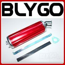 460mm RED Alloy Exhaust Muffler+ Clamp 150cc 250cc PIT Quad Dirt Bike ATV Buggy