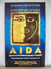 AIDA Herald ELTON JOHN / TIM RICE Palace Theatre MINNELLI ON MINNELLI Tie In NYC