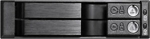 "Aluminum ( 1x5.25"" ) to (2x6.0G 2.5"" SATA HD)TrayLess HotSwap Cage Backplane NEW"