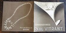 CATALOGUE CHAUSSURES PAUL VITRANT, HIVER1937, HOMMES FEMMES ECOLIERS, DOUAI-LENS