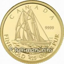 Canada 2012 Bluenose Racing Schooner 50 Cents 1/25 Ounce .9999 Pure Gold Proof