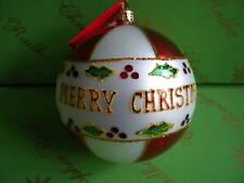 Christopher Radko Holly Jolly Christmas Glass Ornament