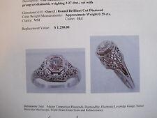 DIAMOND engagement .29ct.ladys 14k whitegold ring  101