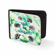 Printed Mens Wallet & Card Holder Save The Hedgehogs Mens Travel Wallets