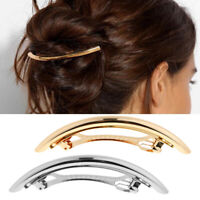 2x Classic French Hair Barrette Tube Hairpin Ponytail Holder Clips for Women