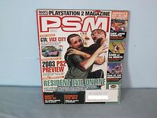 PSM Playstation Magazine January 2003 Resident Evil Online