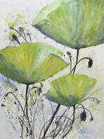 Hungryartist - NY artist - Large original oil painting of Lotus flowers 36x48