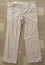 Calvin Klein Womens Body Fit Pants Beige Size 14 X 31 Low Waist