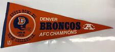 Denver Broncos Super Bowl XII 1978 Game Day Pennant