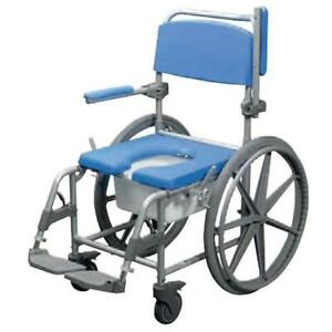 Atlantic Wave Deluxe Commode Shower Chair- Self Propelled