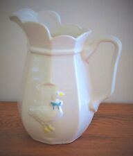 """Vintage McCoy Pottery 1980's White Glass """"Country Goose"""" Pitcher"""