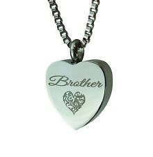 Love to Treasure Dad Patterned Gold Heart Urn Pendant - Ash Cremation Jewellery with Personalised Engraving hFxOrgIjQ