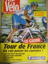 VELO : GUIDE DU TOUR DE FRANCE : 2008 :  TOP VELO 100% CYCLOSPORTIF