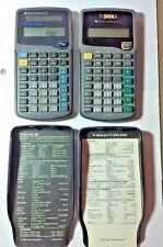 Texas Instruments TI-30XA Scientific Calculator & TI-36X Solar w Covers & Papers