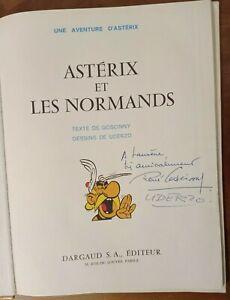 EXCEPTIONNEL BD ASTERIX ET LES NORMANDS 1966 EO 9 DÉDICACÉ GOSCINNY UDERZO