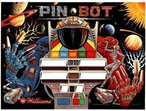 Williams Pinbot PIN * BOT pinball machine translite