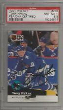 1991 Pro Set Hockey Tony Hrkac Autographed Card PSA/DNA Certified (CSC)