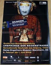 GERMAN EXHIBITION POSTER 2007 - THE ORIGINS OF SILK ROAD CHINA masks art