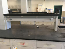 """48""""-72"""" x 21"""" high Tiered Laboratory Reagent Shelves with Utilities"""
