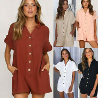 Casual Women's Holiday Beach Shorts Loose Rompers & Mini Playsuit jumpsuit