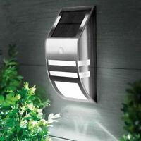 4 Pack Solar Powered LED Wall Light Motion Sensor Security Lamp Outside EX