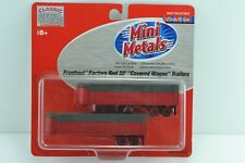 CMW Mini Metals 31131 Fruehauf Red 32' Covered Trailers HO Scale