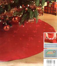 Weihnachtsbaum Decke 120 cm Rot Christbaum Unterlage Schmuck Tannenbaumdecke NEU