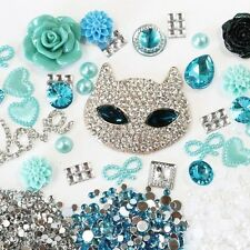 Bling Cell Phone Case Deco Kit: Rhinestone Fox, Love and Matching Color Pearls