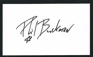 Phil Buckman signed autograph auto 3x5 card Bassist for the Rock Band Filter