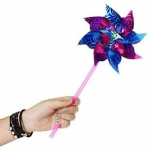 10pcs Garden Lawn Party Decor Toy Gift Kids Plastic Windmill Pinwheel Spinner