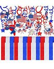 2 Packs of 48 pcs Patriotic Party Decorations 4th of July American Flag Military