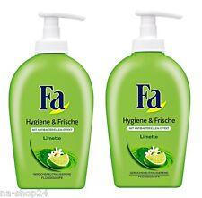 ( 13,98€/ L) 2x 250ml FA JABÓN CREMA HIGIENE & Fresco Limette jabón líquido