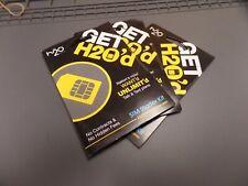 Lot of 3 h2O Wireless Sim Starter Kit 2-in-1 dual cut Sim Card Sku: 667106401102