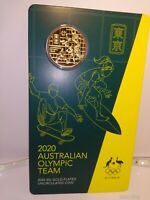 2020 Gold-Plated Round 50 Cent Coin Australian Olympic Team