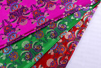 "1/2 YD 28"" TIBETAN TOP DAMASK JACQUARD BROCADE FABRIC: ORIENTAL FLOWER BOUQUET -"