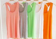 New Women Girl Classic Sleeveless T-Shirt Tank Tops Vest