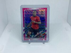 2020-21 Topps Chrome UEFA Champions League Jeremy Doku Rookie Pink Xfractor #2
