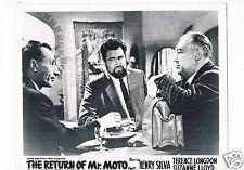 The Return of Mr Moto Full set of 8 Lobby Cards  UK + Cinema  Info sheet