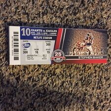 2016 NEW YORK GIANTS VS EAGLES NFL TICKET STUB 1/3 TOM CAUGHLIN LAST GAME